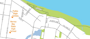 Hervey Bay Street Map Download PDF - Hervey Bay, Queensland